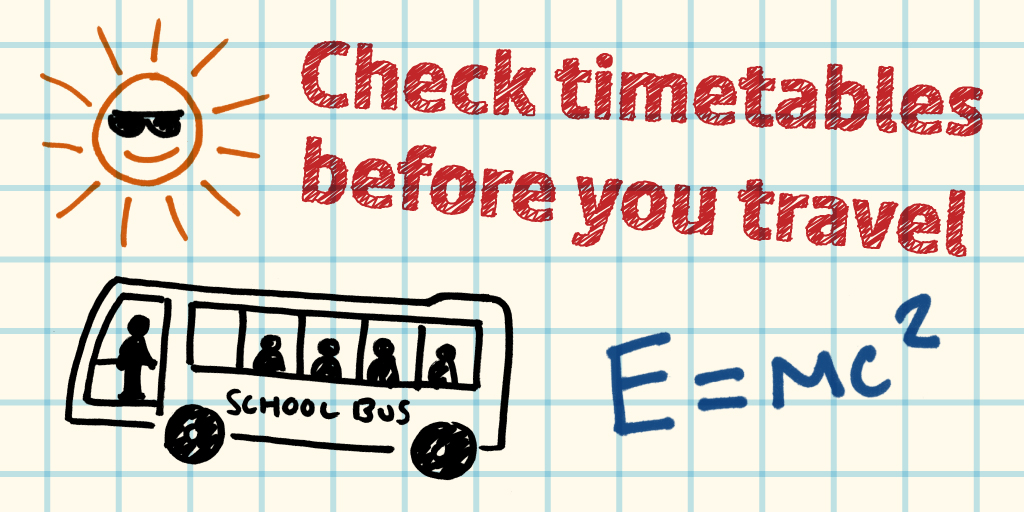 Plan ahead for travelling to school this September