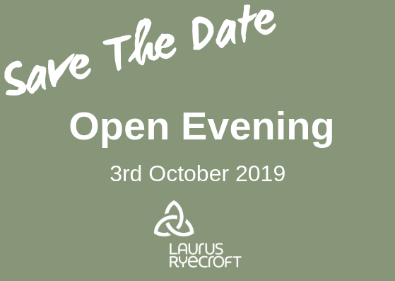 Save the date for Laurus Ryecroft's Open Evening