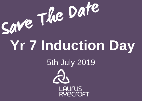Induction Day information for our new Year 7 families