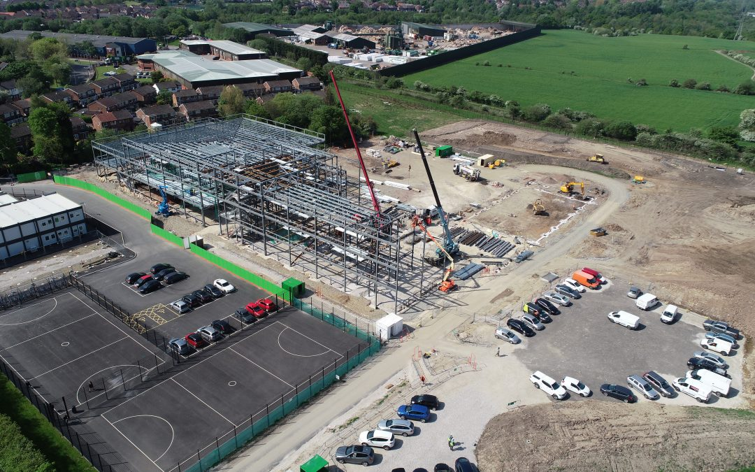 Drone images show how well building work is coming along